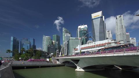 Time lapse of Singapore City Skyline view ビデオ