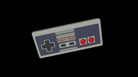 Retro Gamepad VJ Loop Animation
