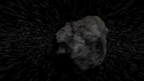 Meteorite Traveling in Speed in Outer Space Image