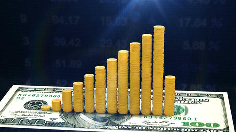 Growth rate of currencies stocks on stock market Stock Video Footage