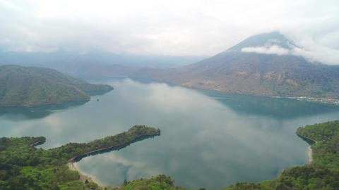 Aerial view of Lake Chuzenji Live Action