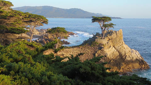 Viewpoint Pebble Beach Monterey California Footage