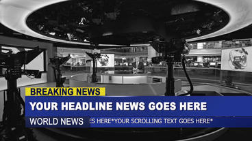 after effects news template