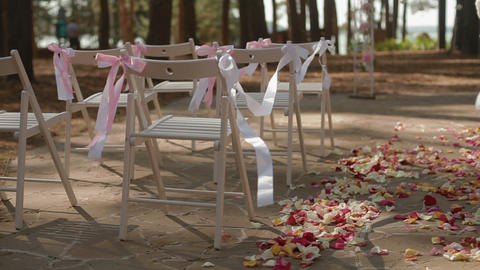 Wedding Aisle Decor stock footage