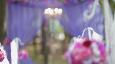 Festive wedding ceremony decoration Footage