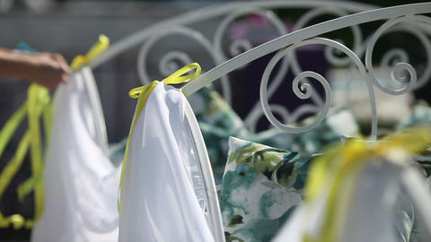 Beautiful wedding decorations Footage