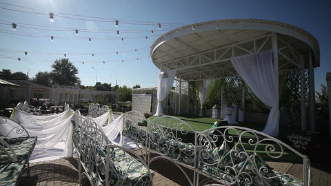 Wedding Setting On The Scene stock footage