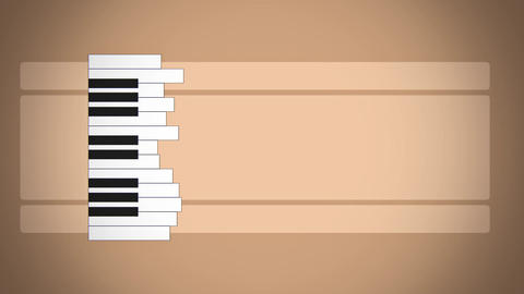 Flat Animation Piano Keyboard Like Abstract Sound Level stock footage