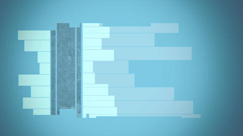 Geometrical horizontal lines random animation Animation