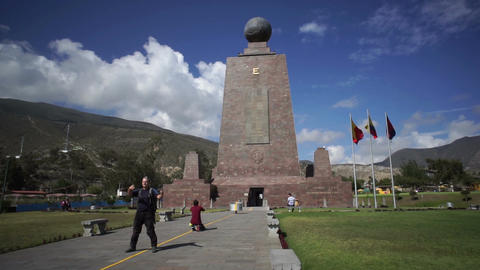 Mitad Del Mundo Monument Handheld Footage