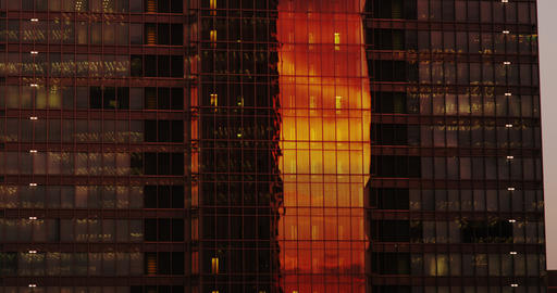 Sun reflecting from Office Building Footage