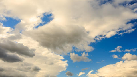 Closeup Timelapse Of White Clouds Floats On Blue Sky stock footage