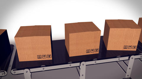 Automated shipment in a warehouse Animation