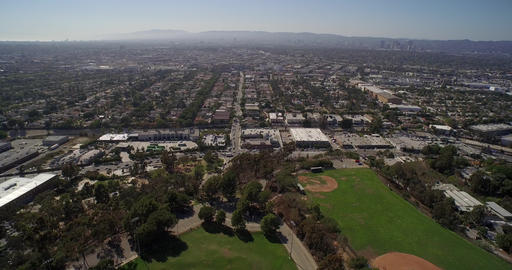 Panoramic aerial view of city of Los Angeles - California, USA Footage
