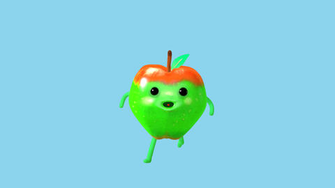 Apple jogging CG動画素材