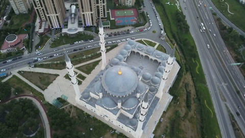 TURKEY - ISTANBUL 01-JUN-2017 : atasehir mimar sinan mosque aerial Image