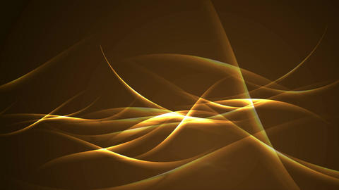 Abstract golden glowing waves video animation Animation
