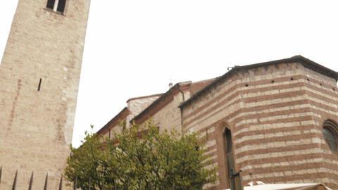 San Francesco (Saint Francis) church in Brescia Footage