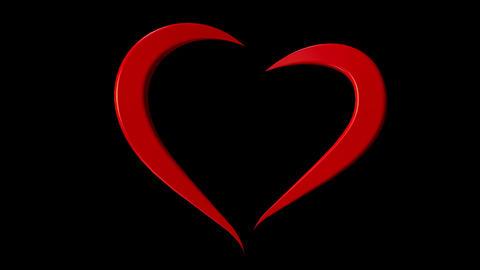 3d Heart Loop CG動画素材