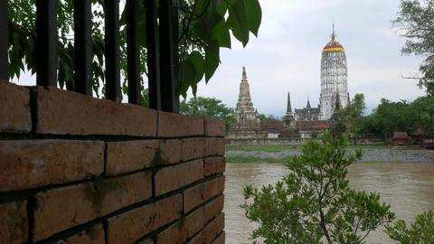 Wat Phutthaisawan Temple Near Chao Phraya River, Phra Nakhon Si Ayutthaya, Thail Footage