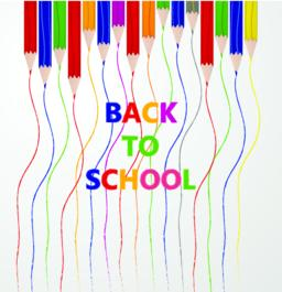 """Line up of color pencils with """"back to school"""" text. Education and learning conc Vektor"""