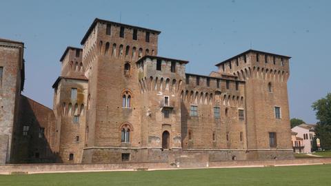 Majestic Saint George castle in Mantua Footage