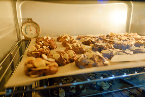 Cookies bake in the hot oven Photo