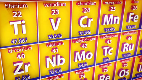3D Periodic Table Of Element stock footage
