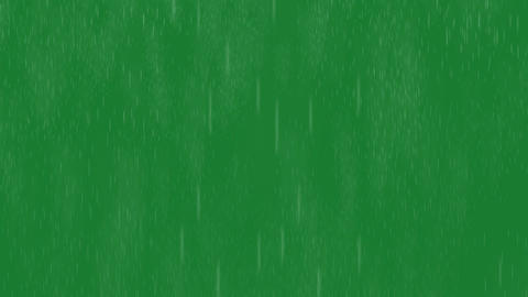 rain on green screen Animation