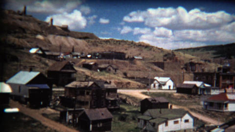 1972: Scenic western USA mining town on decline Footage