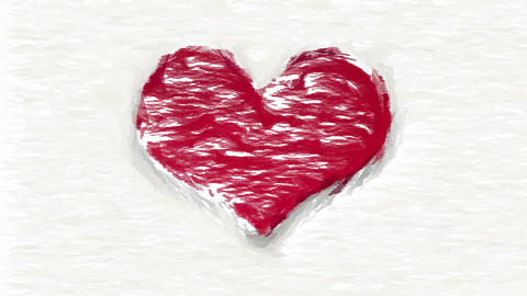 Abstract red heart on white animated collage Animation