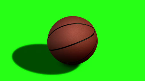 Looped Rotation Around Classic Basketball Ball | Full HD