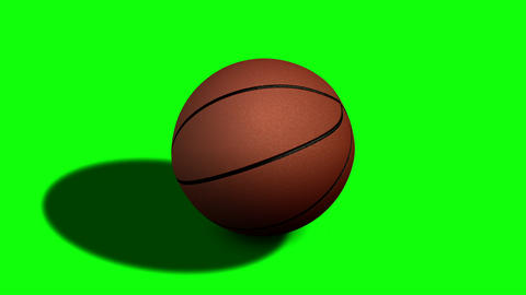 Looped Rotation Around Classic Basketball Ball | Ultra HD