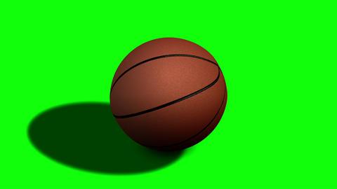 Looped Rotation Around Classic Basketball Ball | Ultra HD