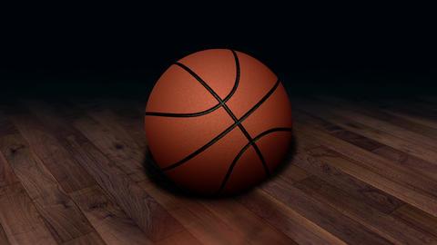 Looped Rotation Around Classic Basketball Ball | Ultra HD 0