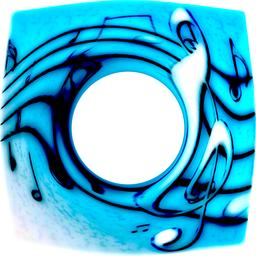 Melting music, notes blurred background, treble clef フォト