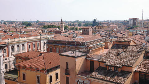 Mantua rooftops, churches and terraces Footage