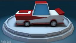Low-Poly-Racing-Car 3D Modell