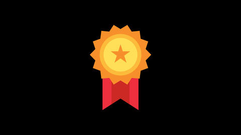 Award Animated Icon CG動画素材