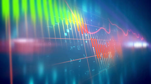 Abstract Stock Market background with Candle stick Animation