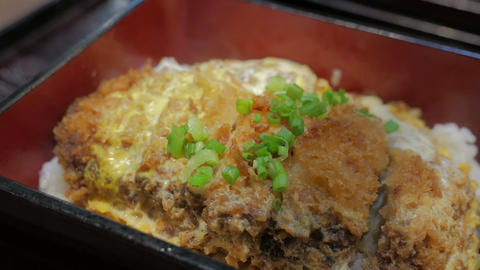 Japanese cuisine Katsudon Footage