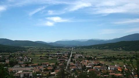 Panorama of Corbaro village with mountains Footage