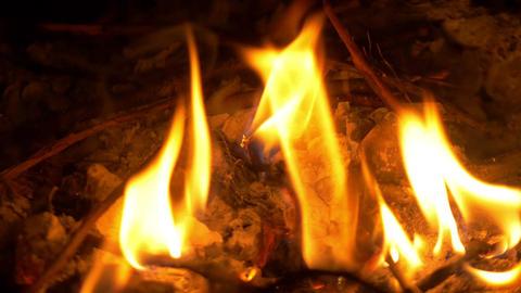 Video of fireplace in in 4K ビデオ