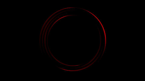 Dark red neon loading waiting rings video animation Animation