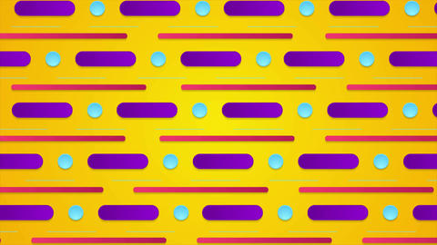 Colorful retro minimal geometric video animation Animation