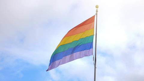Video of LGBT flag in 4K Filmmaterial