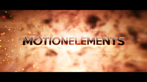 Fiery Cinematic Trailer Titles After Effects Template