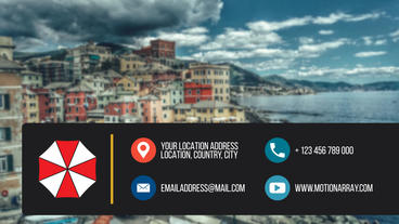 Business & Social Contact Information After Effects Template