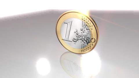 Digital 3D Animation of an Euro Coin Animation