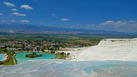 Minerals in Pamukkale120148 Footage